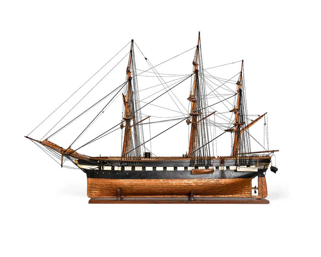 Modello della pirofregata a tre alberi. Garibaldi